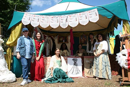 Pavilion of The Art Institute of Fort Lauderdale fashion design students on the Renaissance Festival